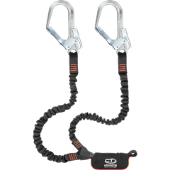 Самостраховка Climbing Technology с амортизатором рывка Flex ABS Steel Y-L, black/orange, самостраховка с амортизатором, 180