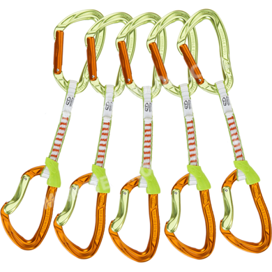 Комплект відтяжок Climbing Technology Nimble Evo Set DY 12, green/orange, дайнема, без муфти, 12