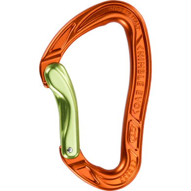 Карабин Climbing Technology Nimble EVO B, orange/green, дюраль, без муфты, HMS