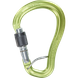 Карабін Climbing Technology Axis HMS SGL, green/grey, дюраль, різьбова муфта, HMS